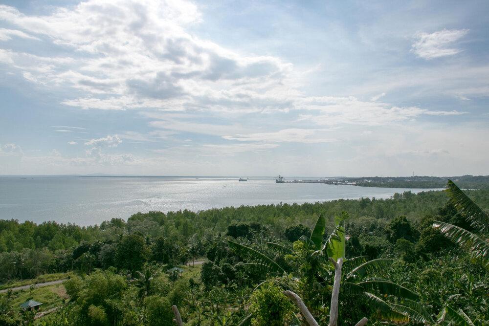 北カリマンタン、塹壕上部からの眺め