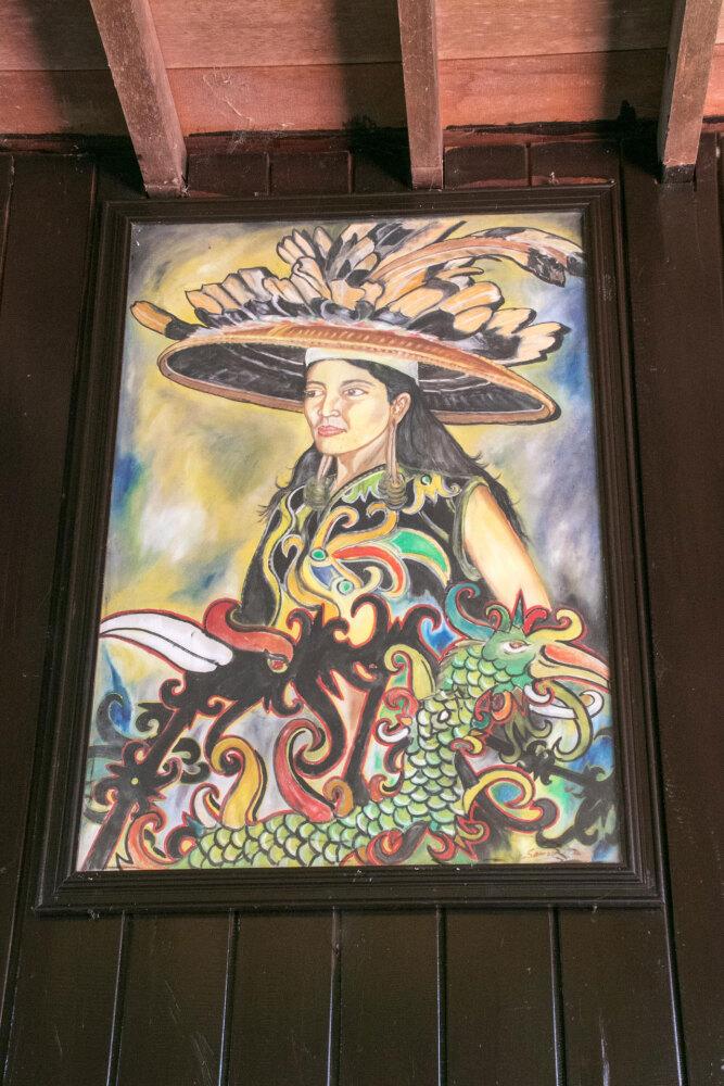 北カリマンタン、ティドゥン人の女性
