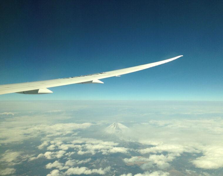 飛行機から見た日本